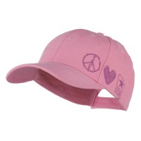 Embroidered Cap - Pink US Army Woman's Peace Love Cap