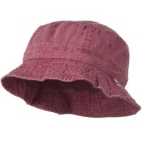 Bucket - Red Vacational Cotton Twill Bucket Hat