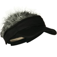 Visor - Black Interchangeable Faux Hair Visor