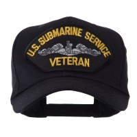 Embroidered Cap - Submarine Service Veteran Military Large Patch Cap