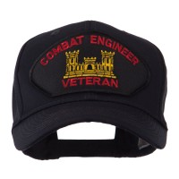 Embroidered Cap - Combat Engineer Veteran Military Large Patch Cap