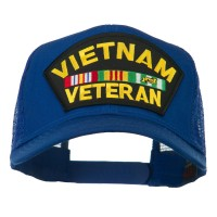 Embroidered Cap - Royal Vietnam Veteran Patched Mesh Cap