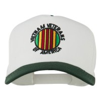 Embroidered Cap - Green White Vietnam Veterans Embroidered Cap