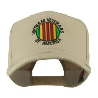 Embroidered Cap - Khaki Viet Vets America Embroidered Cap