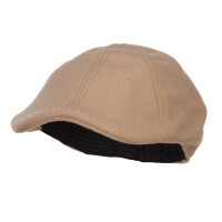 Ivy - Tan Duck Bill Wool Ivy Cap