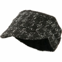 Cadet - Grey Wool Blend Women Military Cap