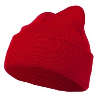 Beanie - Red Super Stretch Knit Watch Cap Beanie
