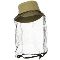 Outdoor - Tan Washed Cotton Mosquito Net Hat