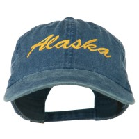 Embroidered Cap - Navy Alaska Embroidered Washed Cap