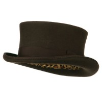 Fedora - Brown Men's Top Hat Wool Felt Hat