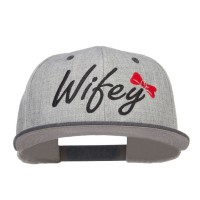 Embroidered Cap - H Black Grey Wifey Embroidered Snapback
