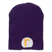 Beanie - Purple Circle Waluigi Embroidered Beanie