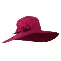 Dressy - Fuchsia Woman's Large Bow Wired Hat