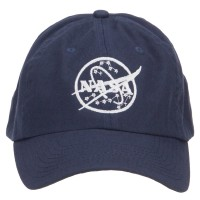 Embroidered Cap - Navy NASA Logo Embroidered Low Cap