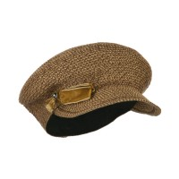 Newsboy - Brown Women's Velvet Bow Newsboy Hat