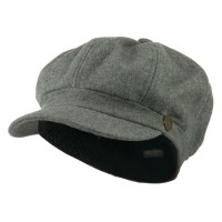 Newsboy - Light Grey Wool Solid Spitfire Hat