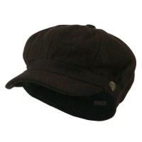 Newsboy - Brown Wool Solid Spitfire Hat