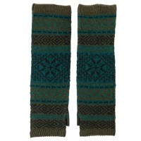 Glove - Green Women's Winter Design Armwarmer