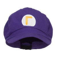 Newsboy - Purple Wario Waluigi Embroidered Cap