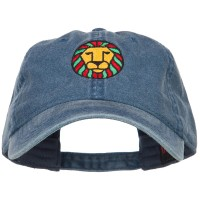 Embroidered Cap - Navy Rasta Lion Embroidered Cap