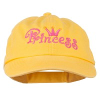 Embroidered Cap - Yellow Youth Princess Embroidered Cap