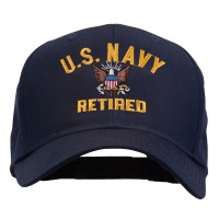Embroidered Cap - Navy US Navy Retired Embroidered Cap