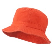 Bucket - Orange Youth Dyed Washed Bucket Hat