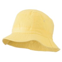 Bucket - Yellow Youth Dyed Washed Bucket Hat