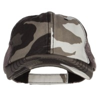 Ball Cap - City Washed Camouflage Trucker Cap