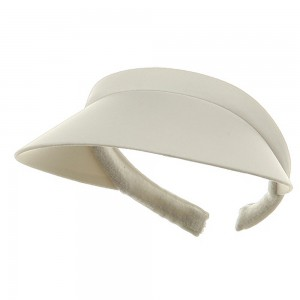 e4Hats.com: Nylon Small Clip On-White