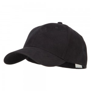 Ball Cap - Black Big Size Stretchable Deluxe Fitted Cap
