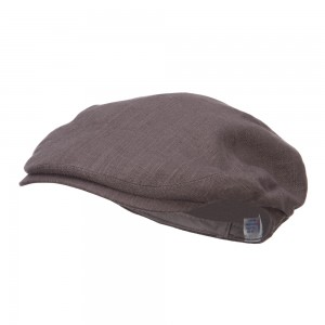 Ivy - Charcoal Men's Linen Summer Ivy Cap