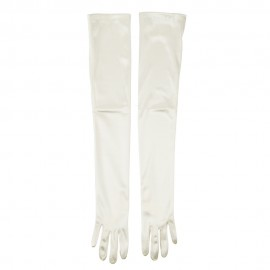 Satin 16BL 23 Inches Glove - Ivory