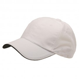 6 Panel Athletic Mesh Cap-White