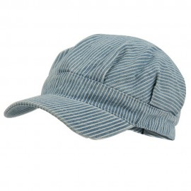 Youth Conductor's Army Cap-Light Blue Stripe