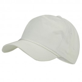 Cotton Twill Golf Cap - White