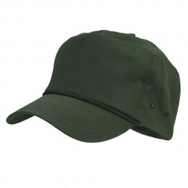 Cotton Twill Golf Cap - Dark Green