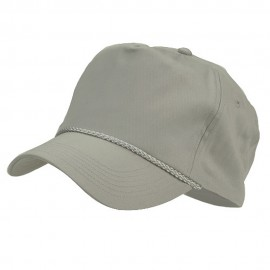 Cotton Twill Golf Cap - Grey