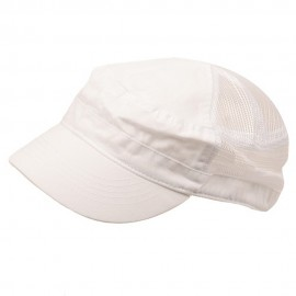 Enzyme Mesh Army Cap-White