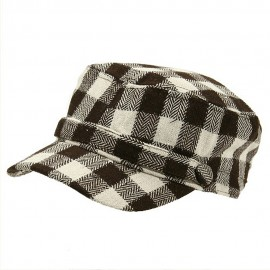 Wool Blend Checker ML Cadet Cap