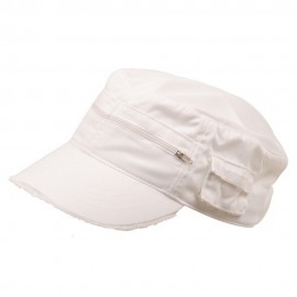 Zippered Enzyme Army Cap-White