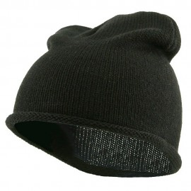 Children Knitting Hat - Black