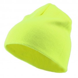 Classic Safety Short Beanie - Yellow