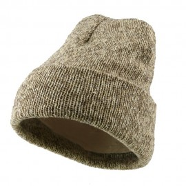 Raggwool Fleece Lined Cuff Beanie - Natural