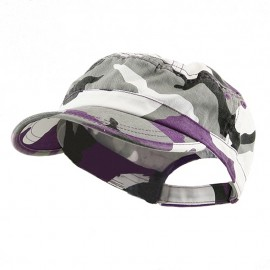 Enzyme Regular Army Caps-Lilac Camo