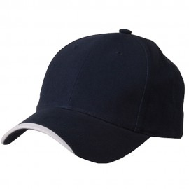 Deluxe Brushed Cotton Twill Cap-Navy White