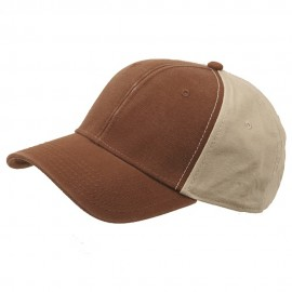 Brushed Cotton Canvas Cap-Brown Khaki