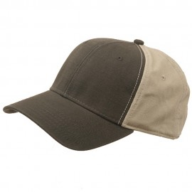 Brushed Cotton Canvas Cap-Olive Khaki
