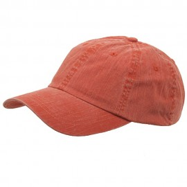 Pigment Dyed Special Cotton Cap-Orange