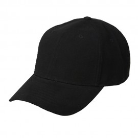 New Deluxe Cotton Cap-Black